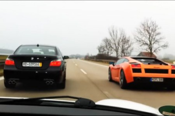 BMW M5 E60 vs Lamborghini Gallardo BMW 5 серия E60-E61