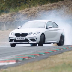 Дрифт нового BMW M2 Competition на французской гоночной трассе Шарада