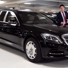 Автомобиль для диктаторов, олигархов и глав государств - Mercedes-Maybach S600 Pullman Guard 2019