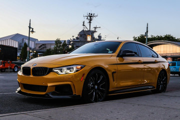 BMW 4-й серии Gran Coupé в цвете Speed Yellow BMW 4 серия Gran Coupe