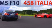 BMW M5 vs. Ferrari 458 Italia BMW 5 серия F10-F11