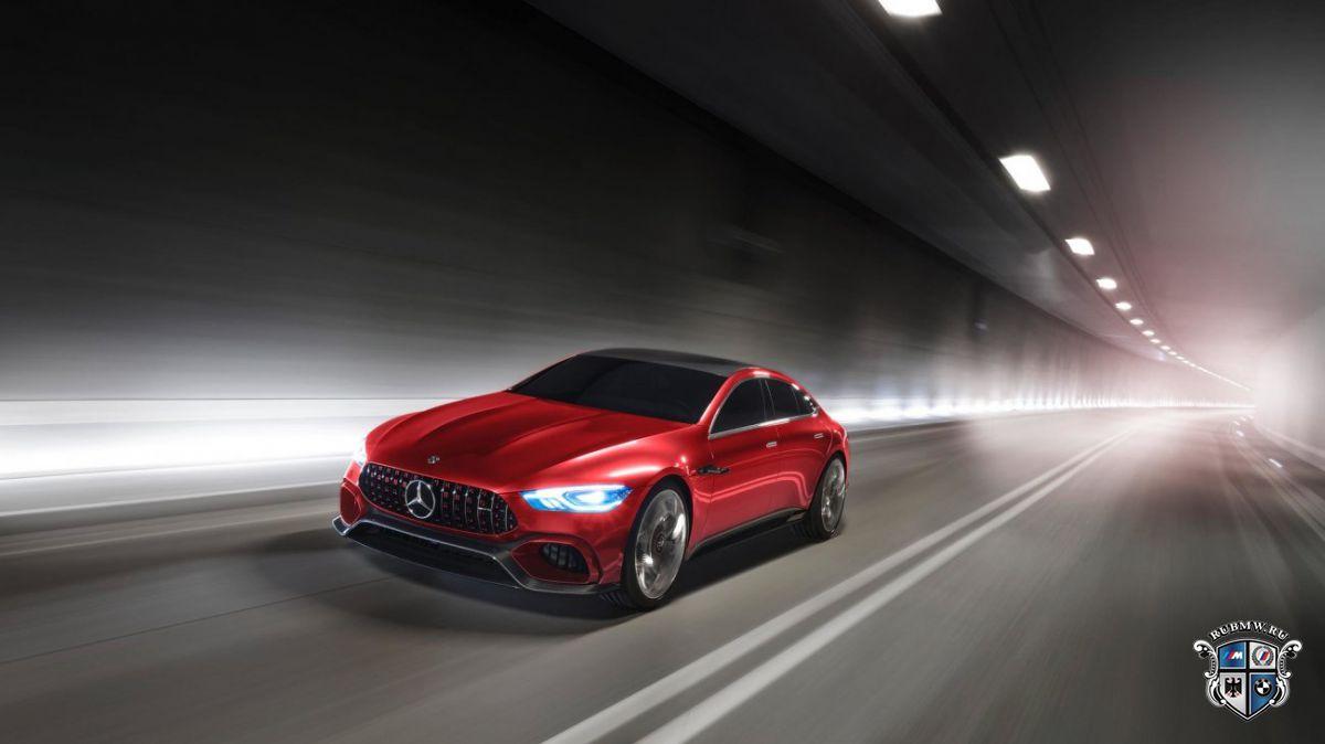 Mercedes выкатил натесты новый седан AMGGT