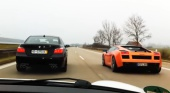 BMW M5 E60 vs Lamborghini Gallardo BMW M серия Все BMW M