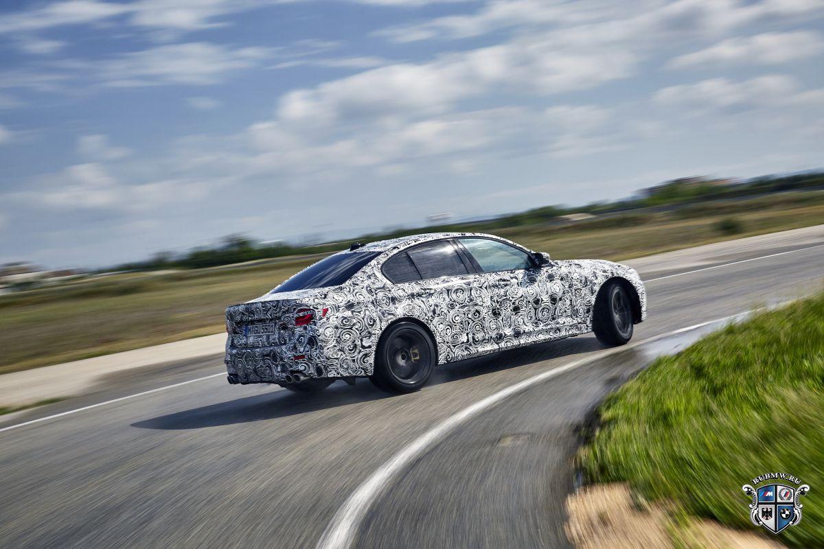 Новая БМВ M5 получит 600-сильный мотор иполный привод Mxdrive